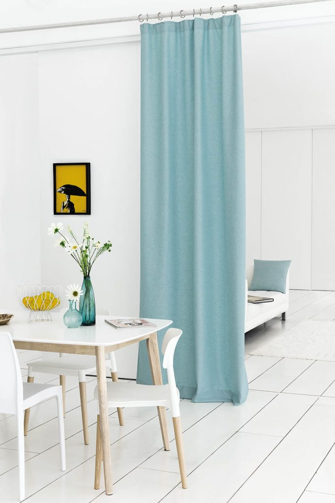 Why Restrict Curtains To Windows When They Can Also Be Used Zone An Open Plan Space The Varsity Collection Shown Here Is Available At Com