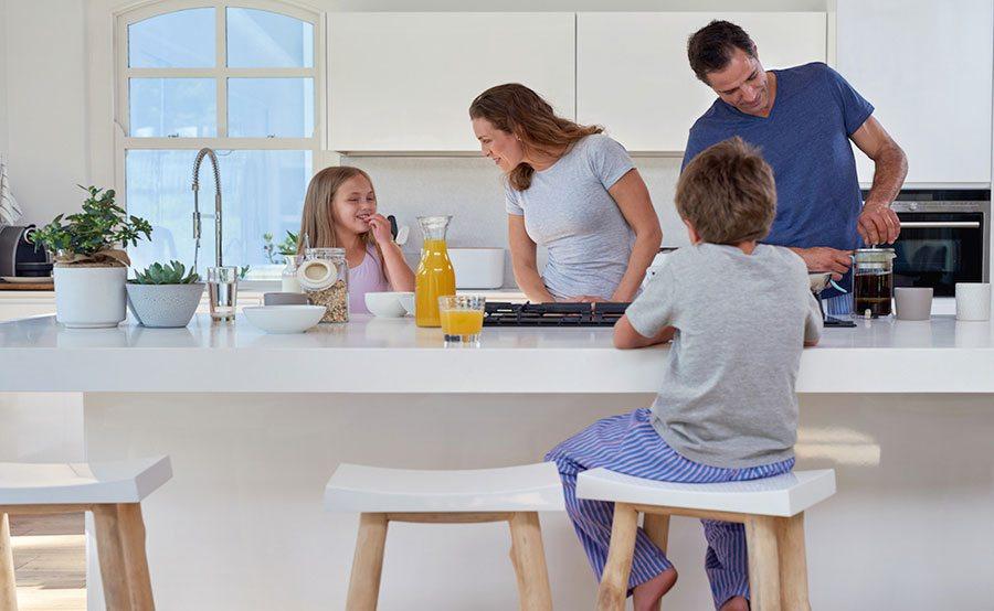 Creating an open plan kitchen property price advice - Family kitchen design ...