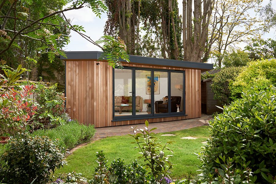 this garden room by eden garden rooms was designed to slot into an awkward space expect to spend around for a similar design