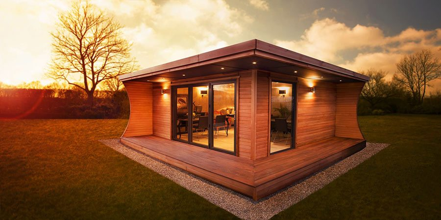The Arca Garden Room By Garden Hideouts Is Made Of Hand Oiled Western Red  Cedar Tongue And Groove Panelling And Features Aluminium Bi Fold Doors. It  Costs ...