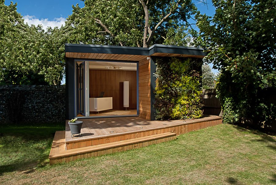 The Exterior Of This L Shaped Family Room By EDEN Garden Room Features An  Overhang That Provides Essential Shade On Sunny Days. A Similar Garden Room  Costs ...