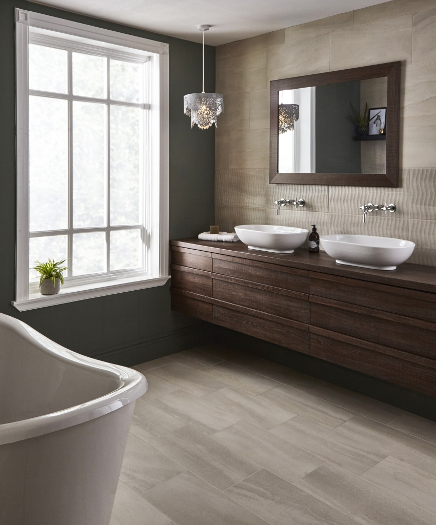 Buyer s guide to bathroom flooring property price advice for Topps tiles bathroom ideas
