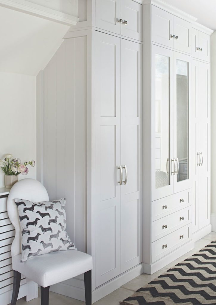 Seen Here In White, This Shaker Style In Frame Fitted Wardrobe, Priced From  £5,000 From John Lewis Of Hungerford Blends Beautifully Into The Bedroom.