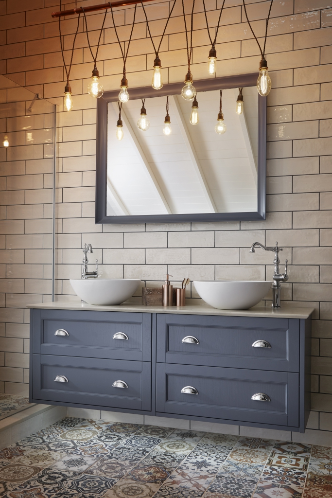 This double vanity unit in Peacock Blue is from Utopia 's Roseberry ...