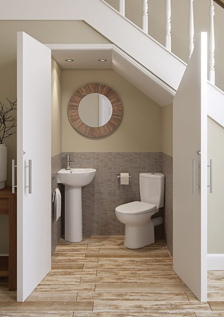 The Micro Space Range From Bathrooms To Love Includes This Close Coupled  Corner WC, Priced From £205, And Corner Cloakroom Basin With Full Pedestal,  ...