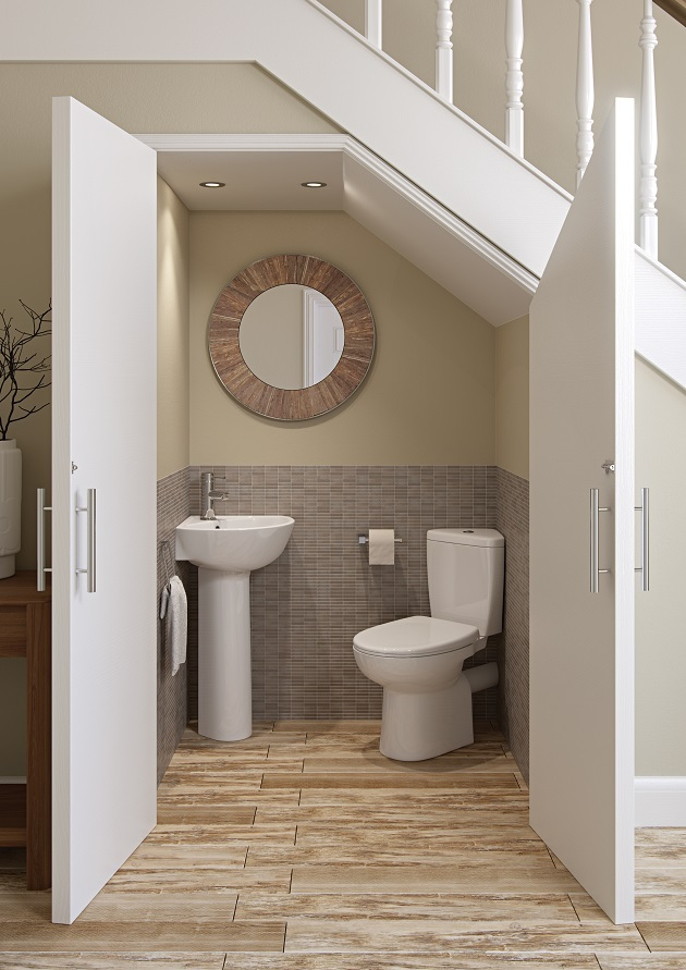 how to plan and design your cloakroom bathroom property price advice. Black Bedroom Furniture Sets. Home Design Ideas