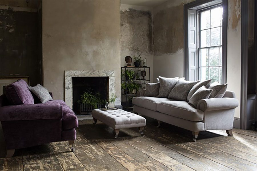Why Stick To Matching Sofas When You Can Create An Eclectic Look? In This  Living Room, The Bradwell Two Seater Sofa In Mancini Aubergine, £1,727, ...
