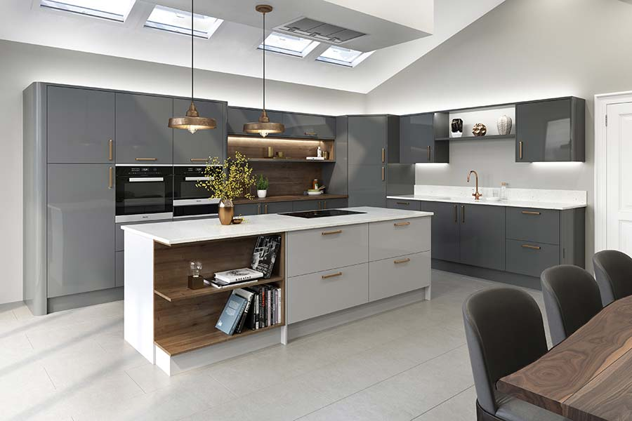 LochAnnau0027s Mala Kitchen Is Offered In A Series Of Seven Contemporary Gloss  Finishes Including Grey And Cream. Itu0027s Priced From £7,000.