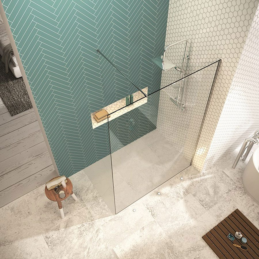 Create a splash with a luxurious walk in shower property price this shower wall starts from 33761 many other designs are available including double entry and corner enclosures and swivel panels dailygadgetfo Image collections