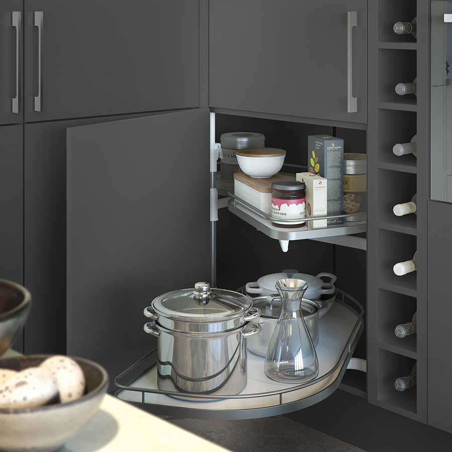 Le Mans Kitchen Storage: Ten Storage Solutions For Small Spaces